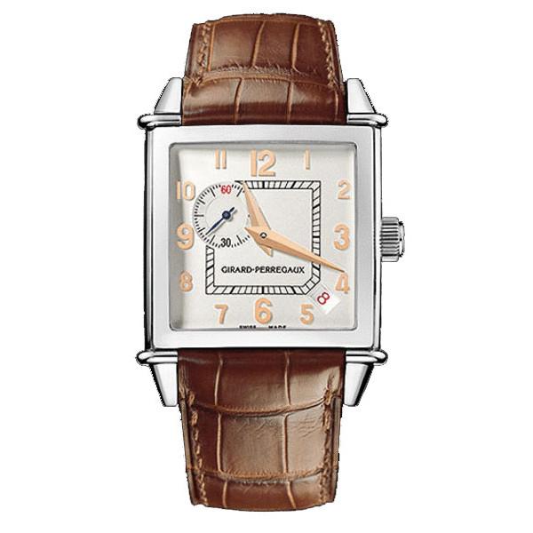 Girard Perregaux watches Vintage 1945 Square (SS / White / Leather)