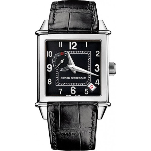 Girard Perregaux watches Vintage 1945 Square (SS / Black / Leather)