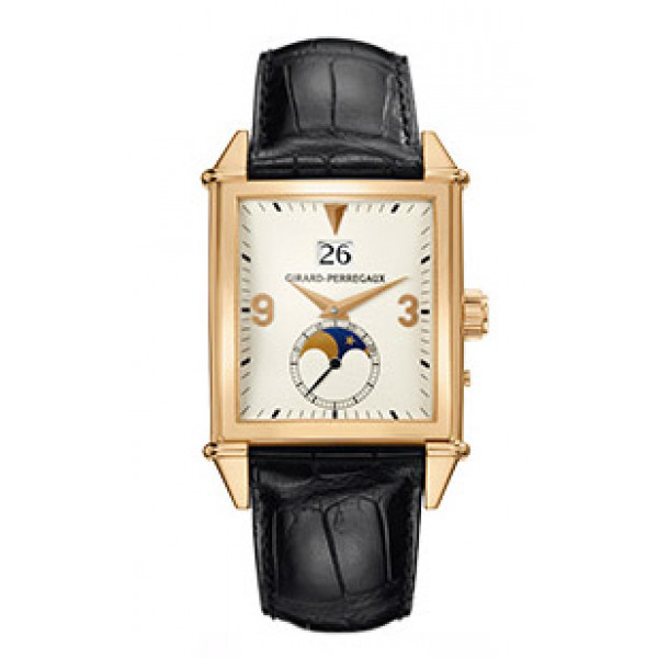 Girard Perregaux watches Vintage 1945 King Size Large Date (RG / White / Leather)