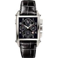Girard Perregaux watches Vintage 1945 King Size Chronograph GMT (WG / Black / Leather)