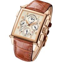 Girard Perregaux watches Vintage 1945 King Size Chronograph GMT (RG / White / Leather)