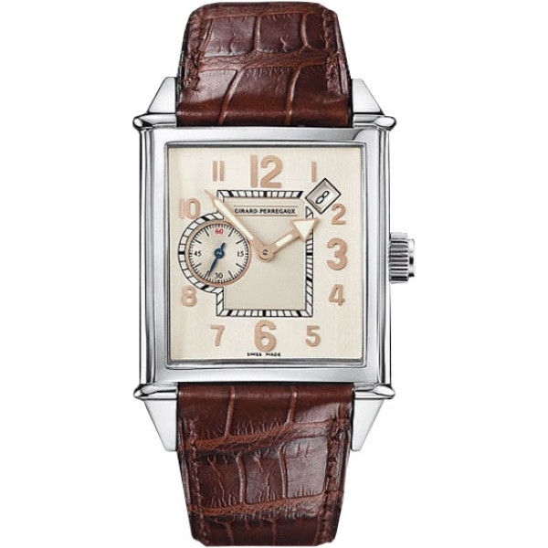 Girard Perregaux watches Vintage 1945 King Size (SS / Silver / Leather)