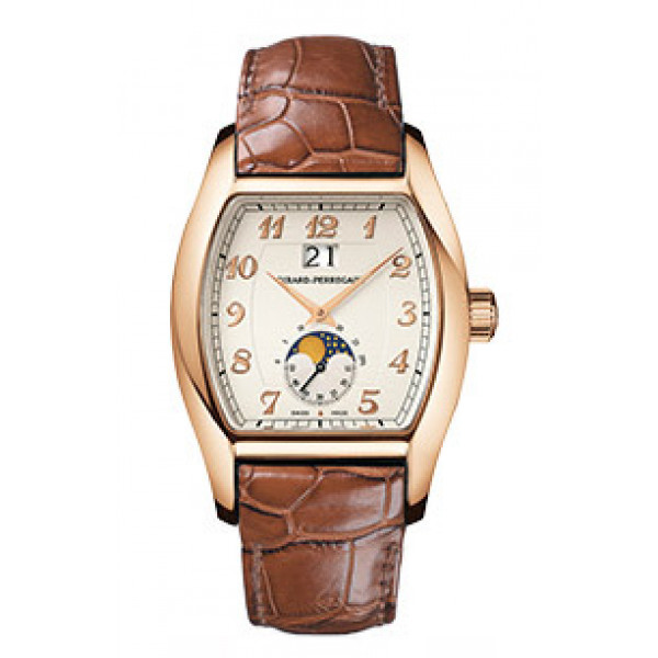 Girard Perregaux watches Richeville Large Date (RG / White / Leather)