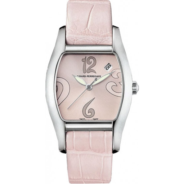 Girard Perregaux watches Richeville Lady (SS / Silver / Leather)
