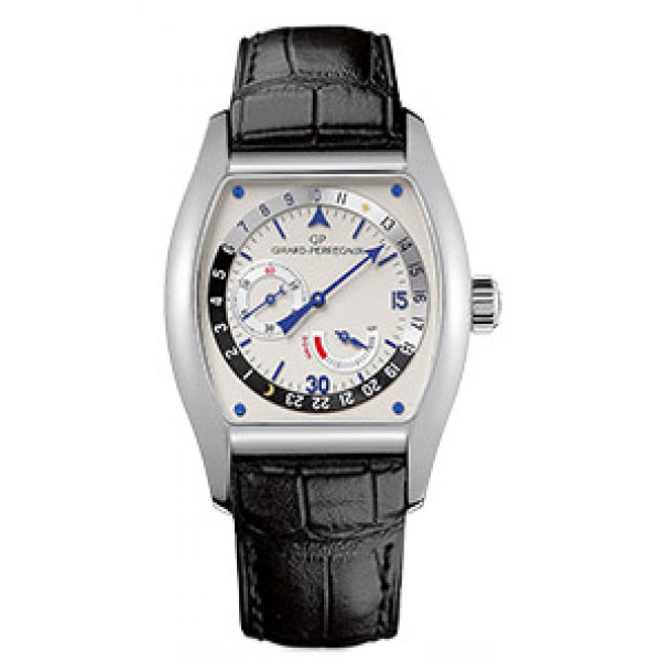 Girard Perregaux watches Richeville Day - Night (SS / White / Leather)