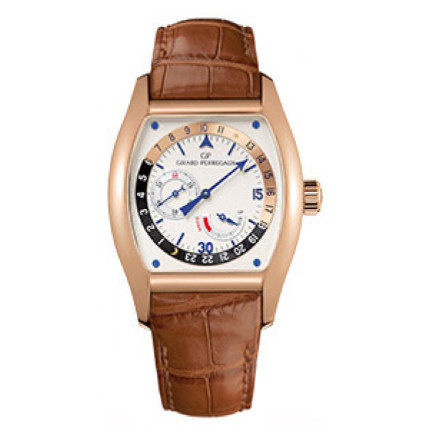 Girard Perregaux watches Richeville Day - Night (RG / White / Leather)
