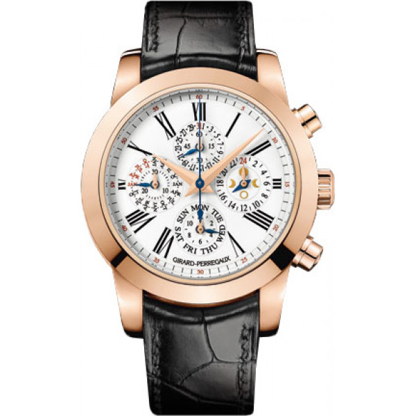 Girard Perregaux watches Tourbillon with three gold Bridges, perpetual calendar and chronograph Limited Edition 33