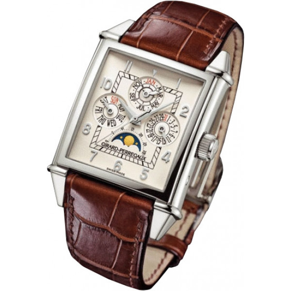 Girard Perregaux watches Vintage 1945 Perpetual Calendar (White Gold)