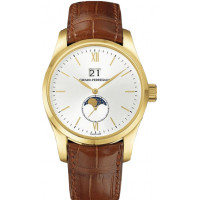 Girard Perregaux watches Classique Elegance Large Date (YG / White / Leather)