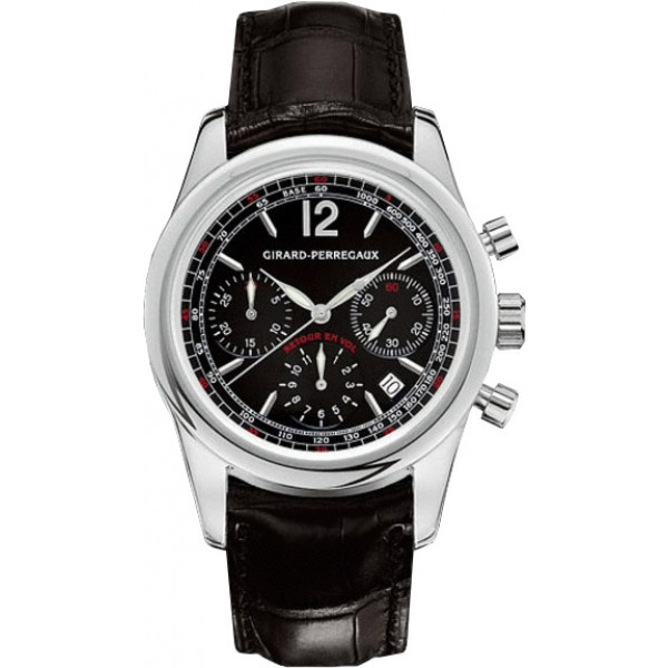 Girard Perregaux watches Classique Elegance Fly-Back (SS / Black / Leather)