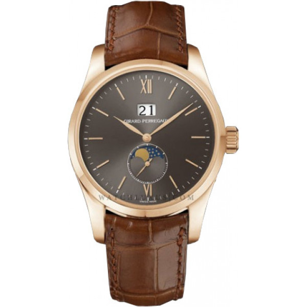 Girard Perregaux watches Classique Elegance - Large Date (RG / Brown / Leather)