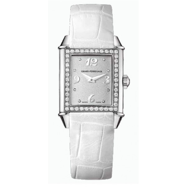 Girard Perregaux watches Vintage 1945 Lady (SS-Diamonds / Silver / Leather)