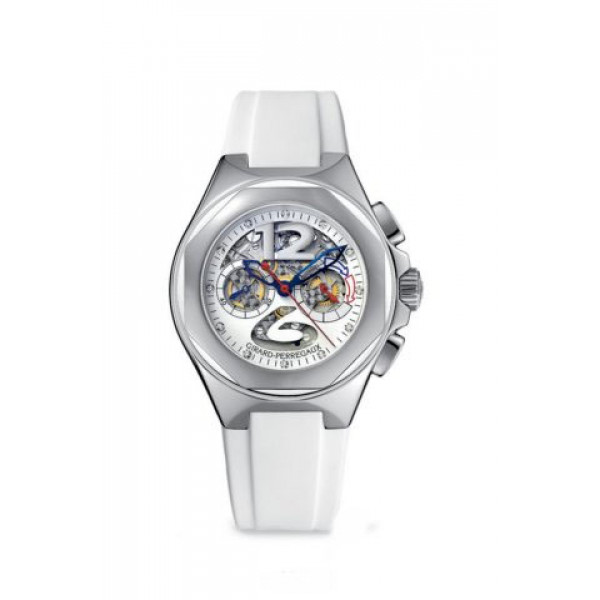 Girard Perregaux watches Laureato USA-98 Lady (SS / White / Rubber)