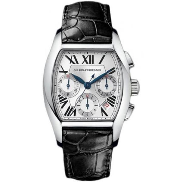 Girard Perregaux watches Richeville Chronograph (SS / White / Leather)