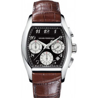 Girard Perregaux watches Richeville Chronograph (SS / Black / Leather)