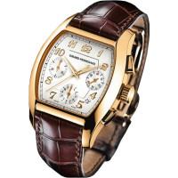Girard Perregaux watches Richeville Chronograph (RG / White / Leather)