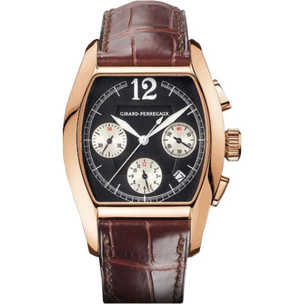 Girard Perregaux watches Richeville Chronograph (RG / Black / Leather)