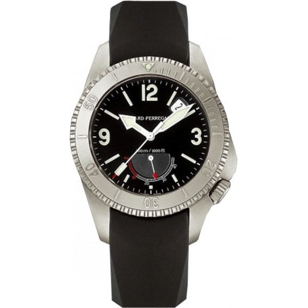 Girard Perregaux watches Sea Hawk II (Titanium / Black / Leather)