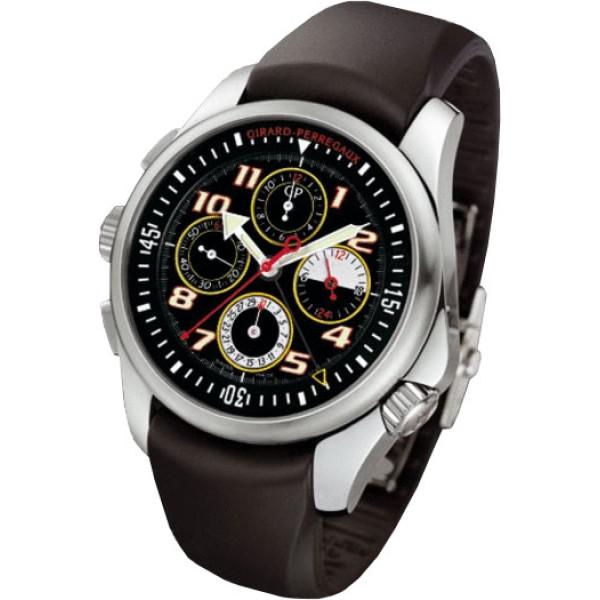 Girard Perregaux watches R&D 01 Chronograph (SS / Black / Rubber)