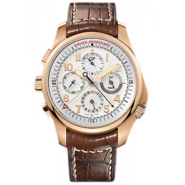 Girard Perregaux watches R&D 01 Chronograph (RG / White / Leather)