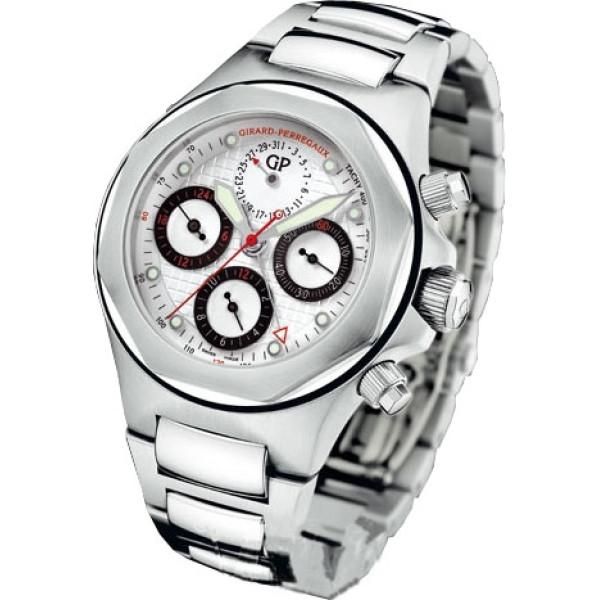 Girard Perregaux watches Laureato Evo 3 Chronograph (SS / White / SS)