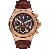 Girard Perregaux watches Laureato Evo 3 Chronograph (RG / Black / Leather)
