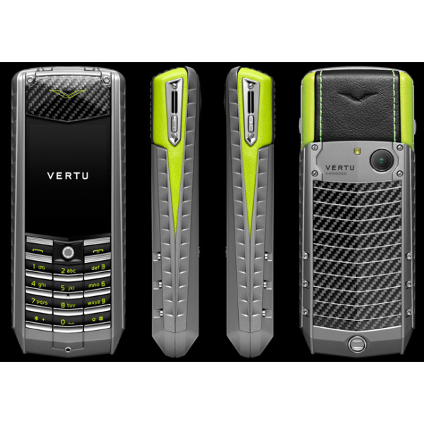 Vertu Ascent X Carbon Black and Green Leather