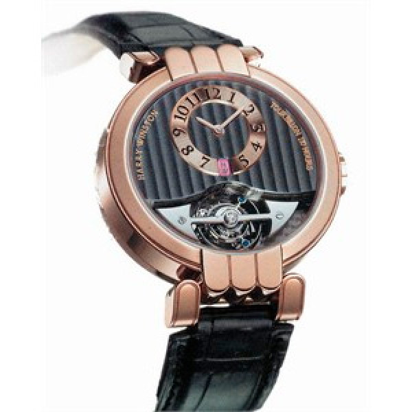 Harry Winston watches Excenter Tourbillon (RG / Leather)