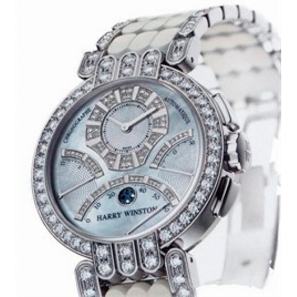 Harry Winston watches Excenter Chrono (WG_Diamonds / White MOP)