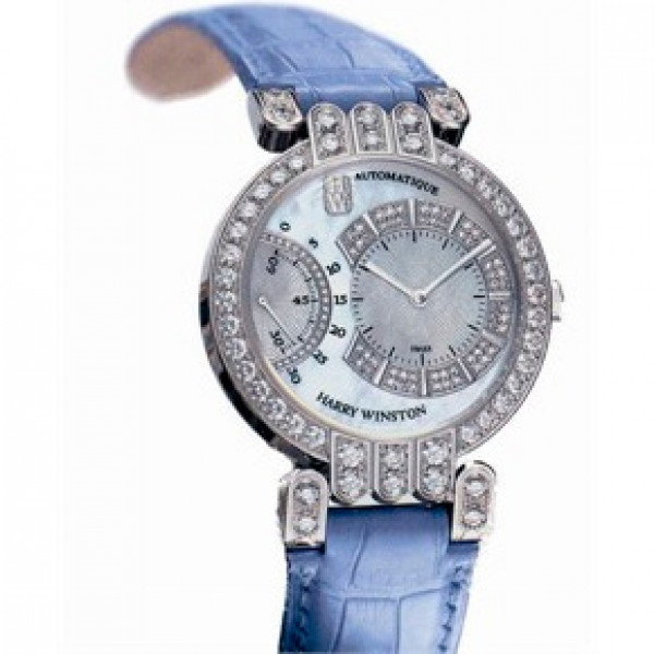 Harry Winston watches Excenter (WG / MOP / Leather)