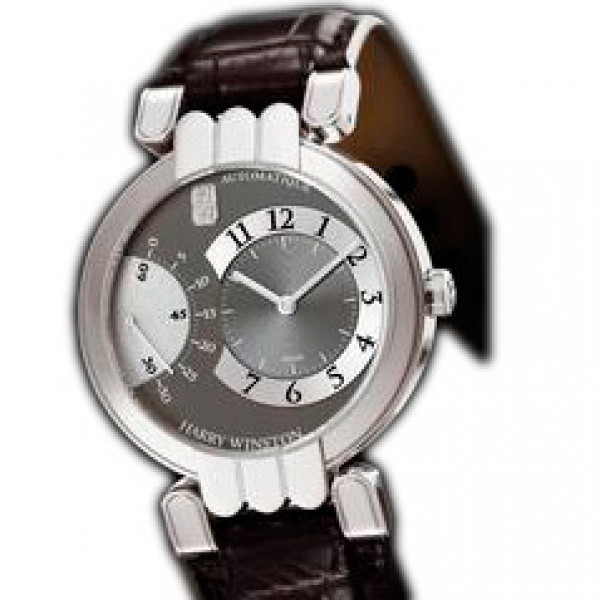 Harry Winston watches Excenter (WG / Grey / Leather)