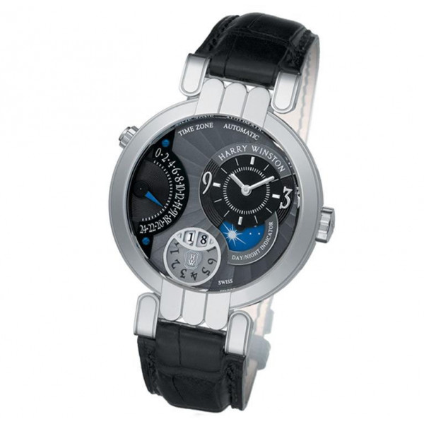 Harry Winston watches Timezone with black dial