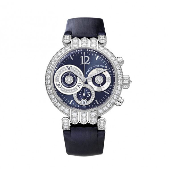 Harry Winston watches Large Chronograph with blue sunray dial