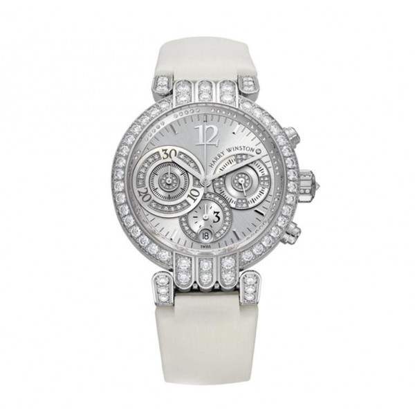 Harry Winston watches Large Chronograph with silver sunray dial