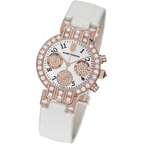 Harry Winston watches Lady Chrono (RG / White)