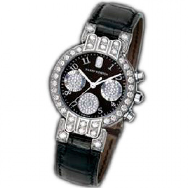Harry Winston watches Lady Chrono (WG / Black Leather)