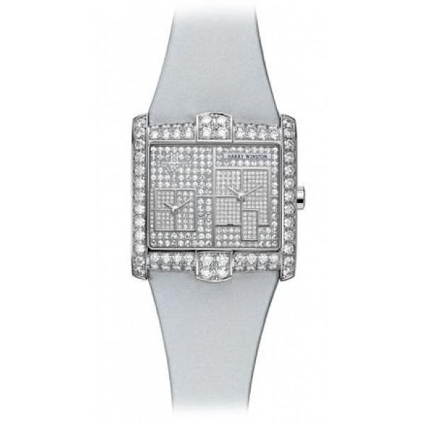Harry Winston watches A2 Quartz with New York pave dial