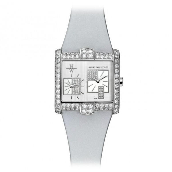 Harry Winston watches A2 Quartz with New York silver dial