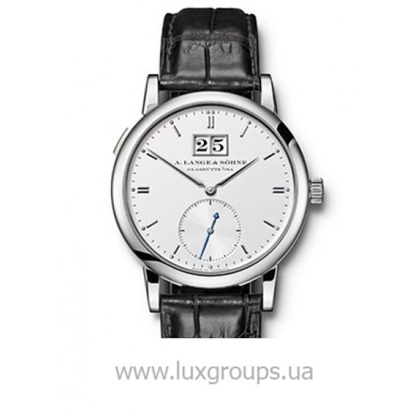 A.Lange and Söhne watches Saxonia Automatik (WG / Silver / Leather)