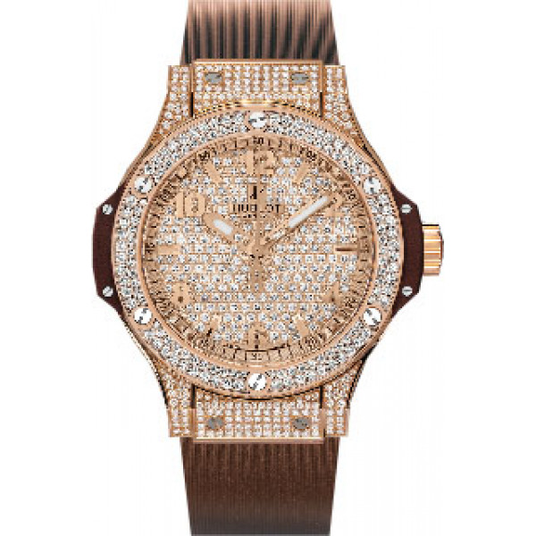 Hublot watches Cappuccino Gold Full Pave