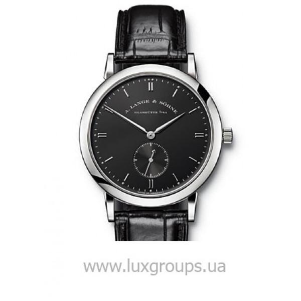 A.Lange and Söhne watches Saxonia (WG / Black / Leather)