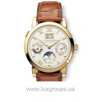 A.Lange and Söhne watches Langematik Perpetual (18kt YG / SIlver / Leather)