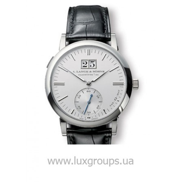 A.Lange and Söhne watches Langematik (Platinum / Silver / Leather)