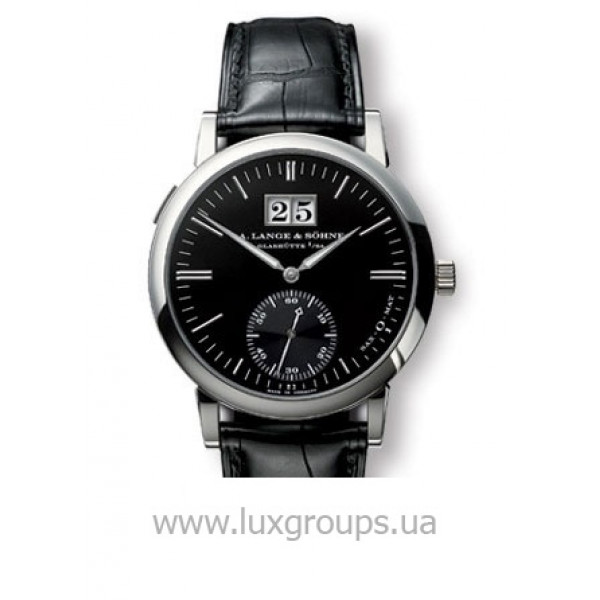 A.Lange and Söhne watches Langematik (18kt WG / Black / Leather)