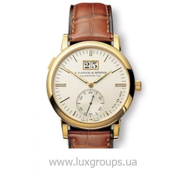 A.Lange and Söhne watches Langematik (18kt YG / Silver / Leather)