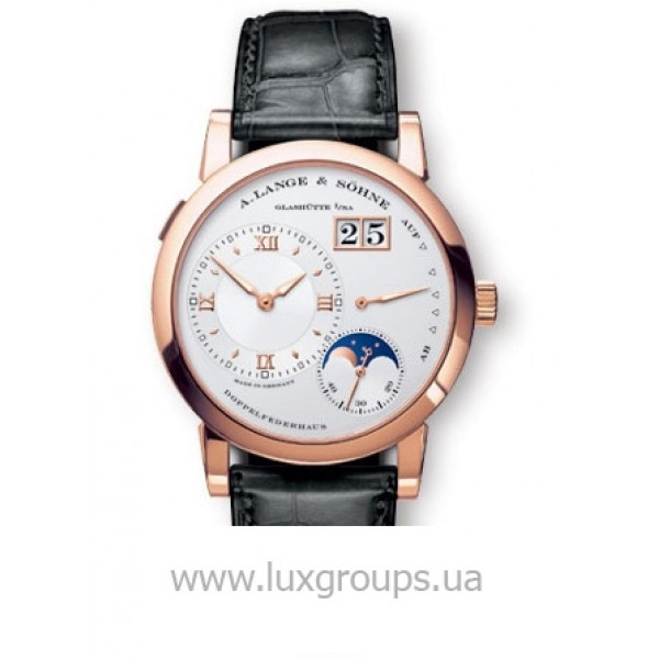 A.Lange and Söhne watches Lange 1 Moonphase (18kt RG / Silver / Leather)