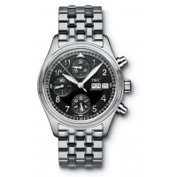 IWC watches Spitfire Chronograph (Black / SS)