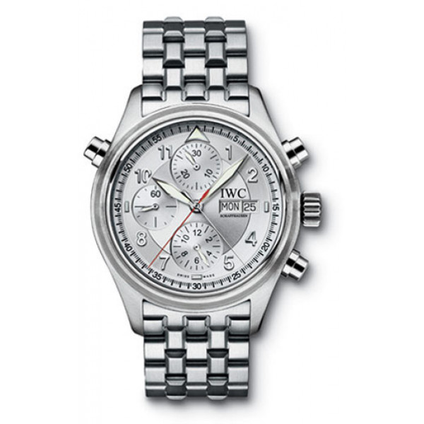 IWC watches Spitfire Double Chronograph (Silver / SS)