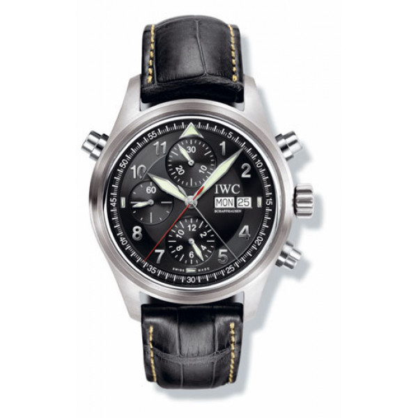 IWC watches Spitfire Double Chronograph (Black)