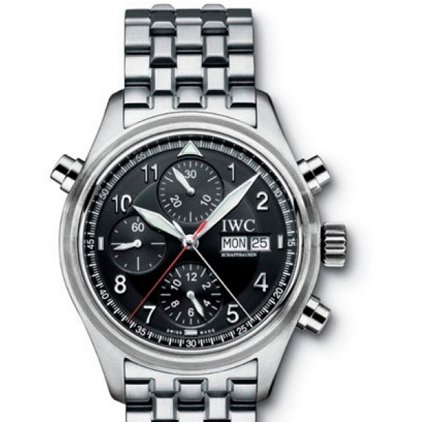 IWC watches Spitfire Double Chronograph (Black / SS)